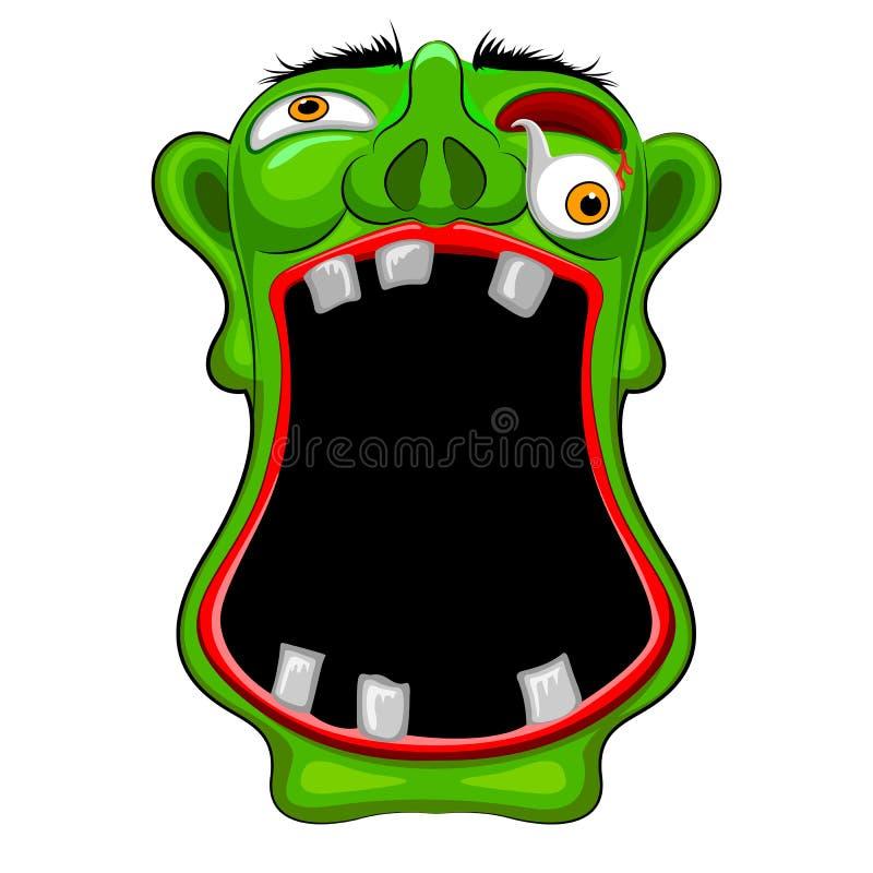 Halloweenowy potwora przyjęcia plakat ilustracja wektor