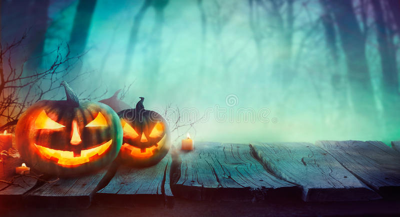 Halloweenowy projekt z baniami ilustracja wektor