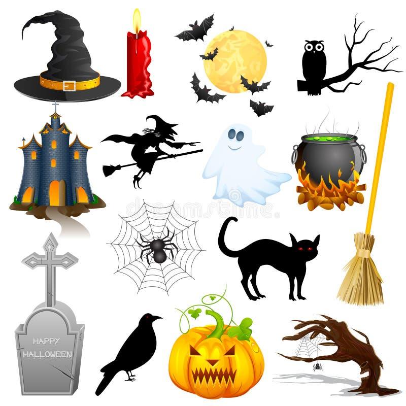 Halloweenowy przedmiot royalty ilustracja