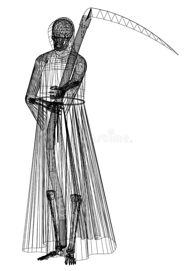 Halloweenowy reaperblueprint ilustracji