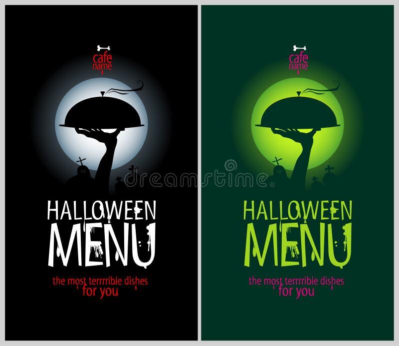 Halloweenowy Restauracyjny menu. ilustracji
