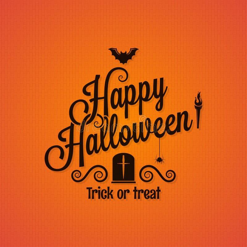 Halloweenowy rocznik pisze list ozdobnego tło ilustracja wektor
