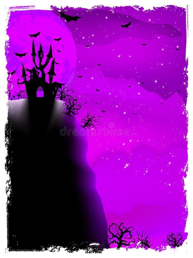 Halloweenowy skład z horroru domem. EPS 10 royalty ilustracja