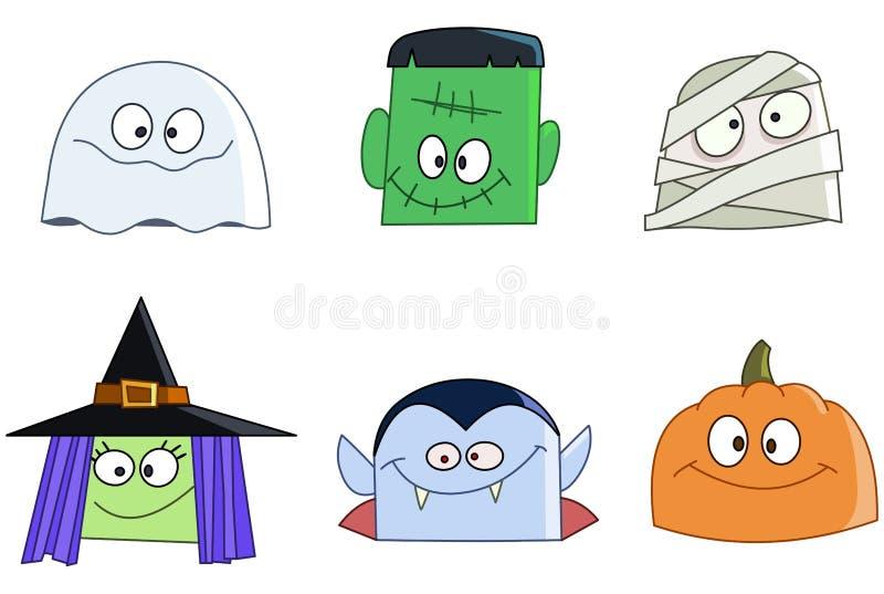 Halloweenowy stawia czoło royalty ilustracja