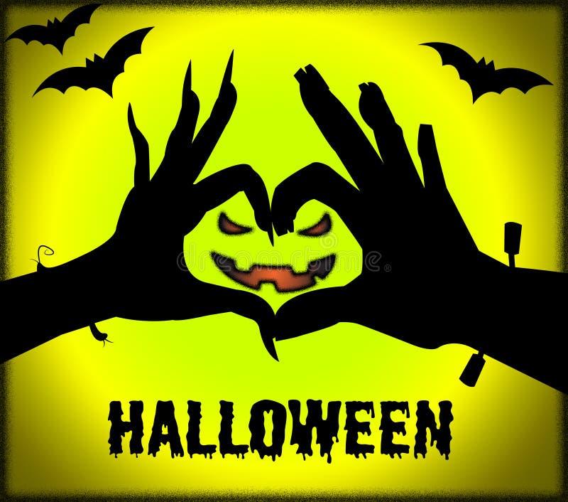 Halloweenowy Stawia czoło sposobu Trikowego, fundę Lub świętowanie ilustracja wektor