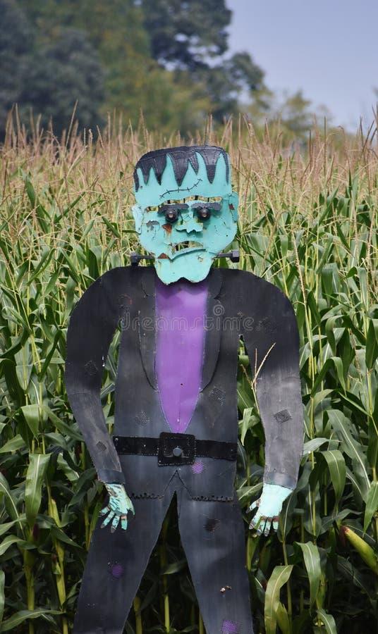 Halloweenowy Straszny Frankenstein Stautue zdjęcia royalty free