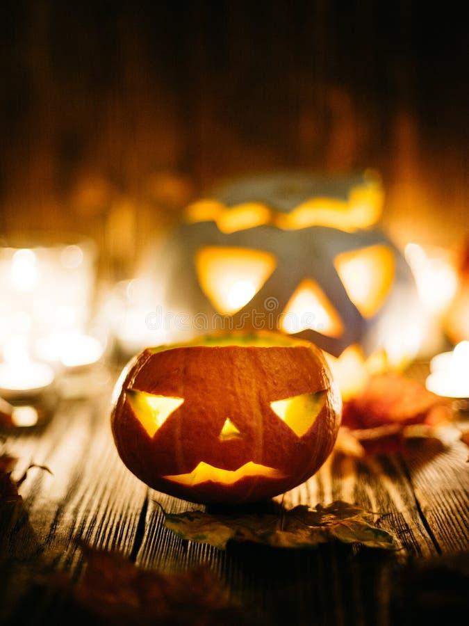 Halloweenowy straszny lampion obrazy royalty free