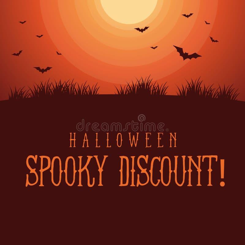 Halloweenowy straszny sprzedaży tła styl obraz stock
