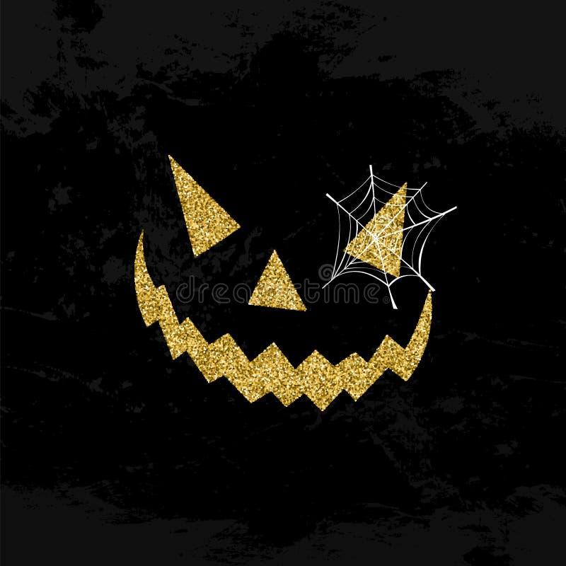 Halloweenowy straszny twarzy błyskotliwości sztuki pojęcia projekt ilustracja wektor