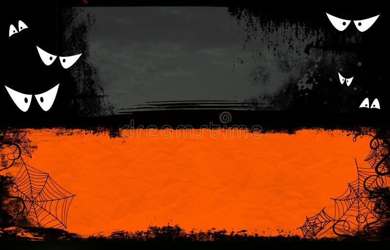 Halloweenowy sztandar ilustracji