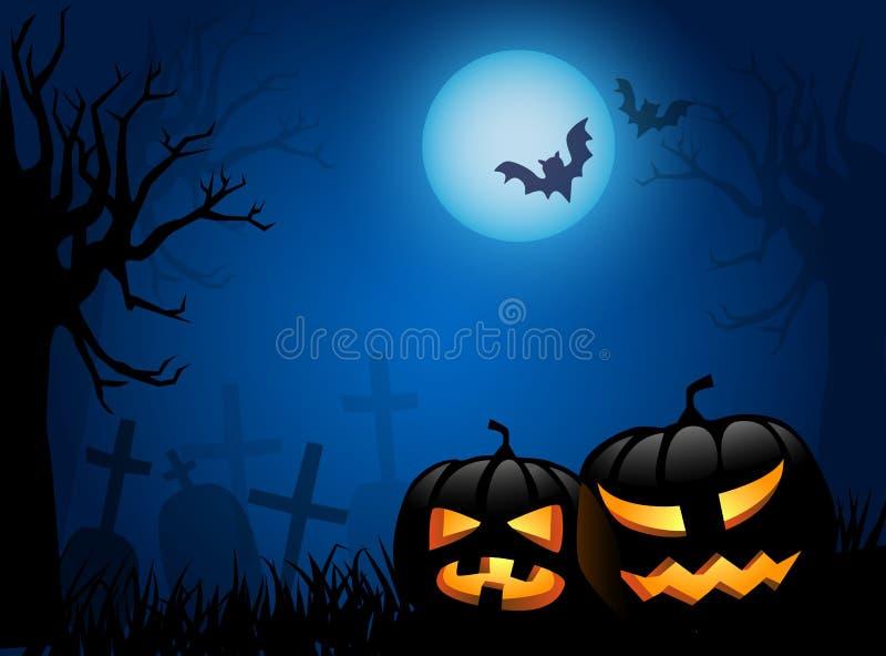 Halloweenowy tło ilustracji