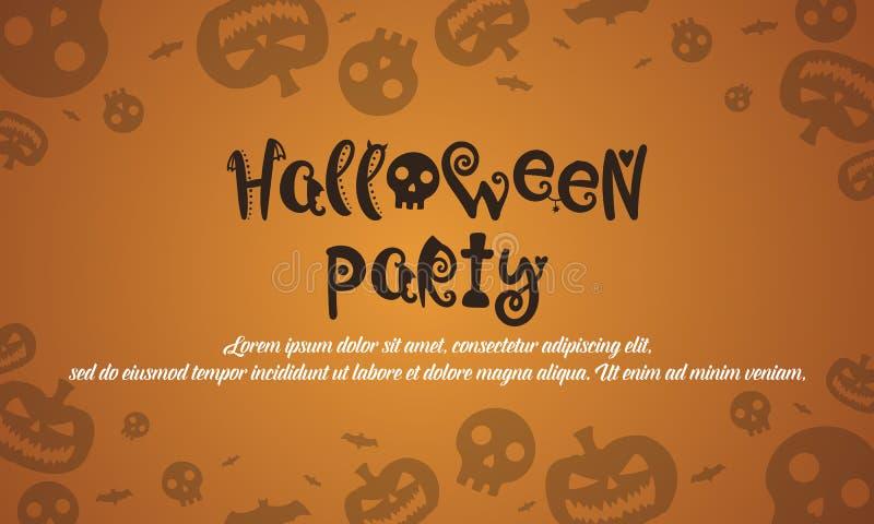 Halloweenowy tło z banią obrazy royalty free