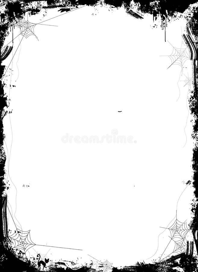 Halloweenowy tło z pająkami na białym tle ilustracja wektor