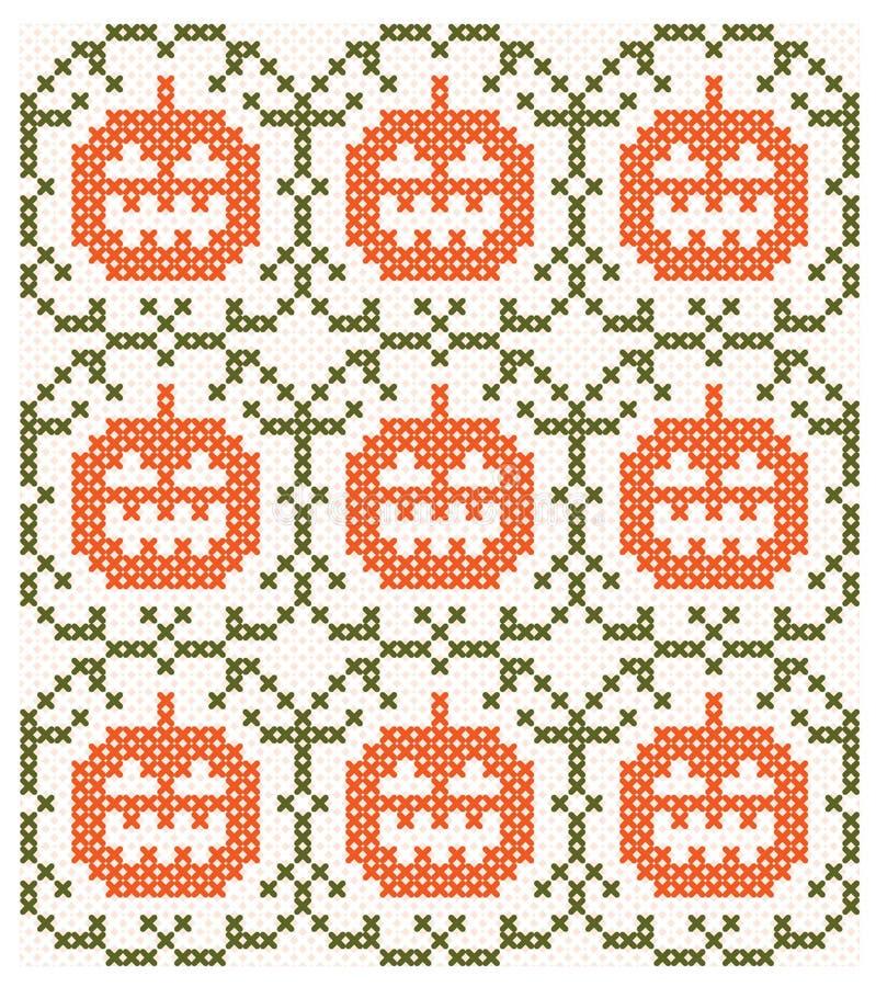 Halloweenowy tło z symetrycznym wzorem ilustracja wektor