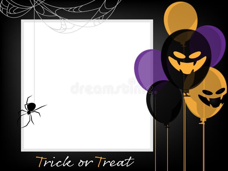 Halloweenowy t?o z Trikowego lub fundy tekstem ilustracja wektor