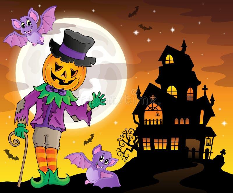 Halloweenowy temat postaci wizerunek 3 ilustracji