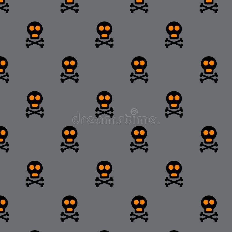 Halloweenowy wektorowy bezszwowy wzór royalty ilustracja