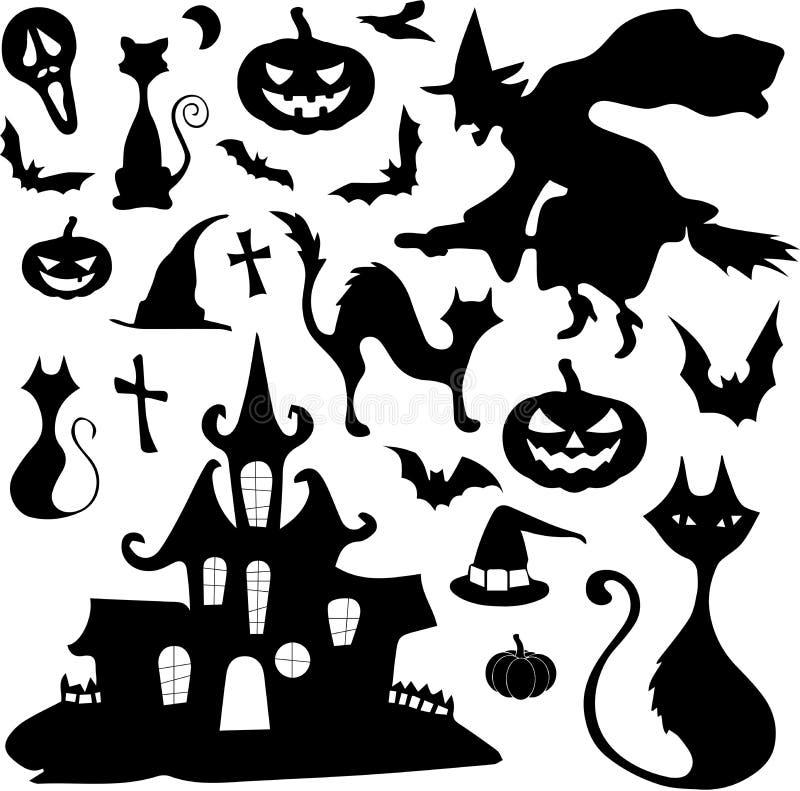 Halloweenowy wektoru set zdjęcia stock