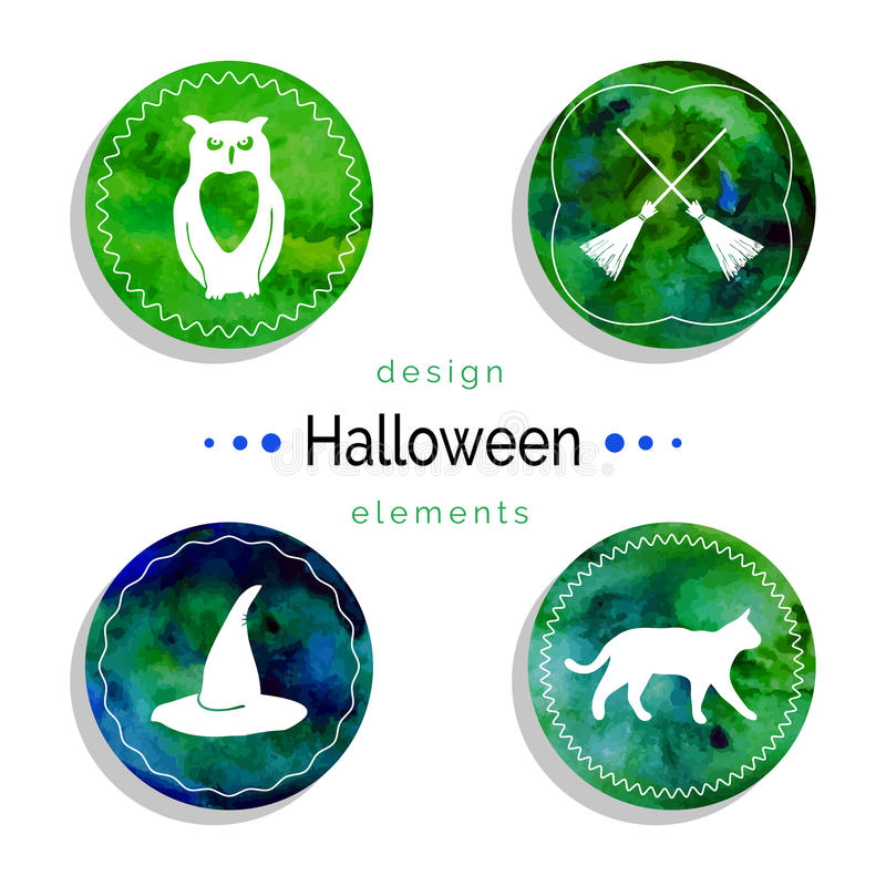 Halloweenowy wektoru set ilustracja wektor