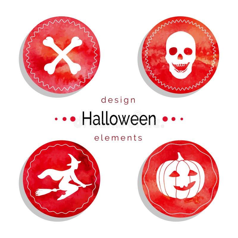 Halloweenowy wektoru set ilustracji