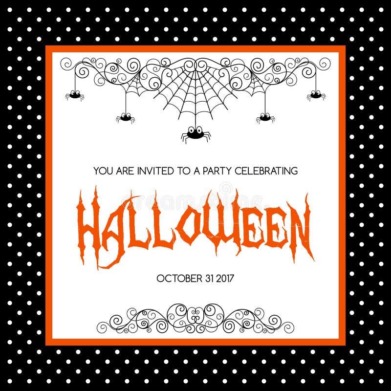 Halloweenowy zaproszenie szablon ilustracja wektor