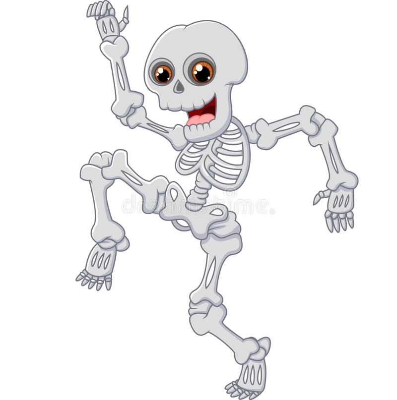 Halloweenowy Zredukowany doskakiwanie z tanem na odosobnionym tle royalty ilustracja