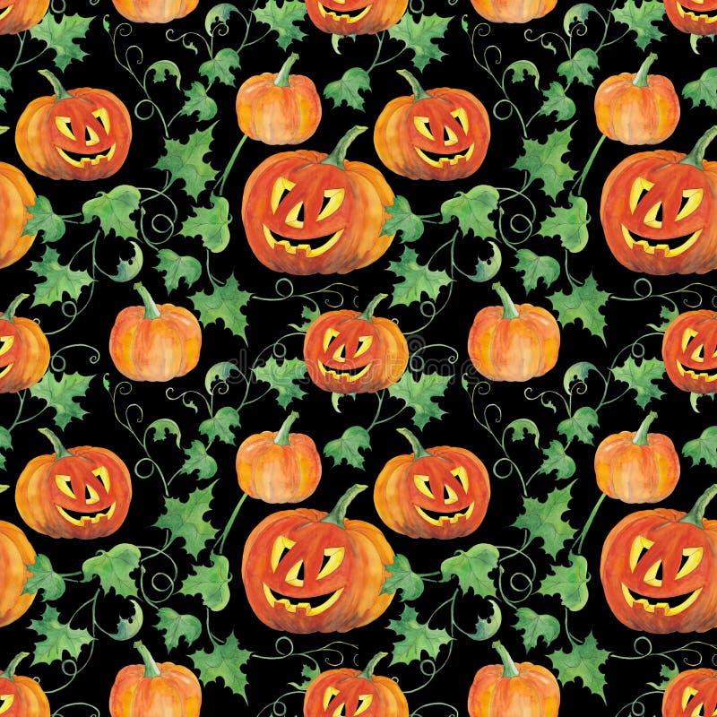 Halloweenowych bani bezszwowy tło zdjęcie royalty free