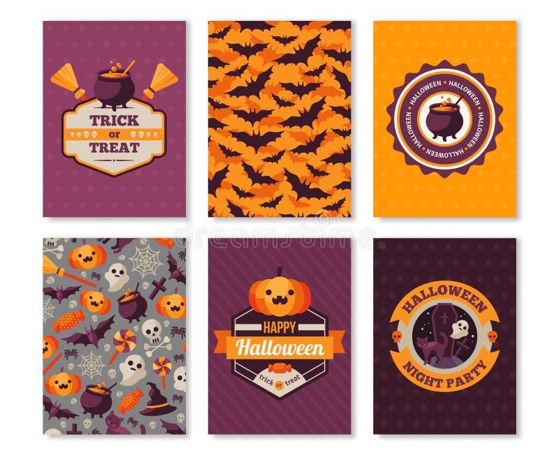 Halloweenowych Pionowo sztandarów Typograficzny szablon ilustracji