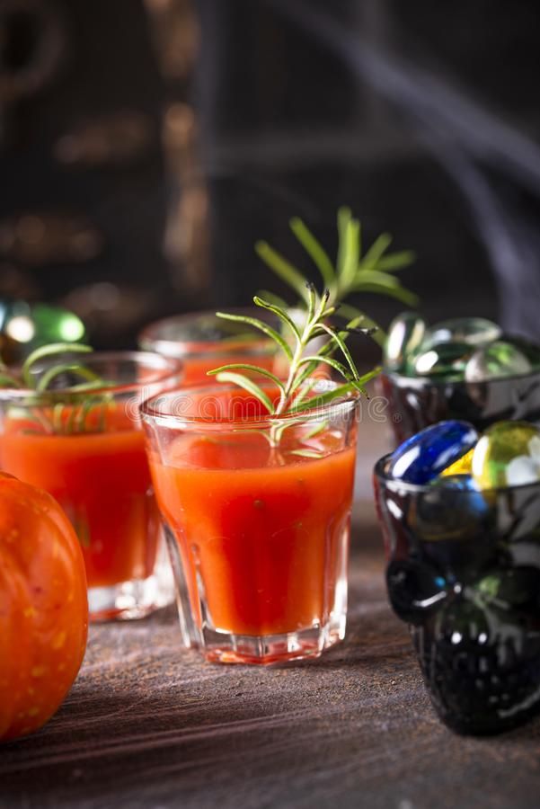 Halloweens drink bloody Mary cocktail royalty free stock photos
