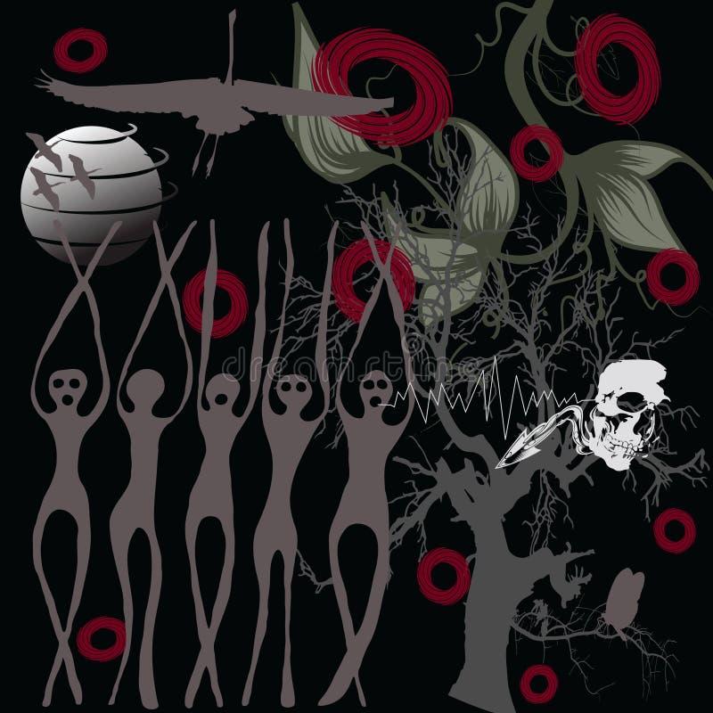 Download Halloween witchcraft stock vector. Image of tree, dread - 6294259