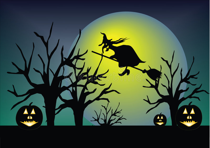 hallowen南瓜 皇族释放例证