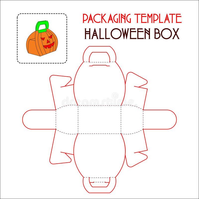 Hallowen箱子包装的模板 皇族释放例证