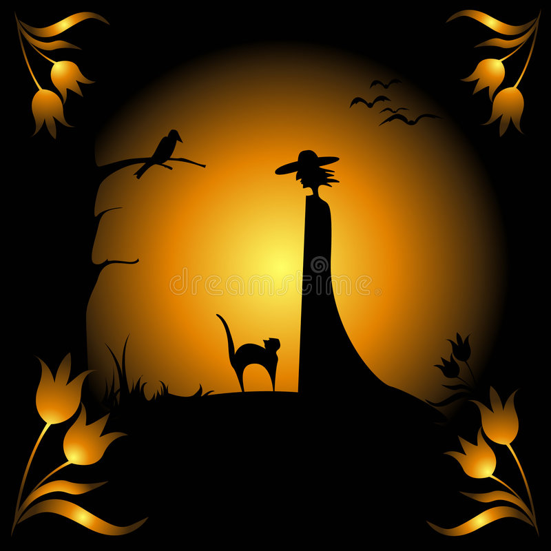 Hallowen card royalty free stock image