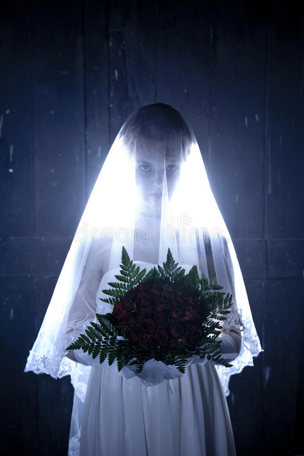 Hallowen fotografii temat: Zwłoki Panna młoda fotografia stock
