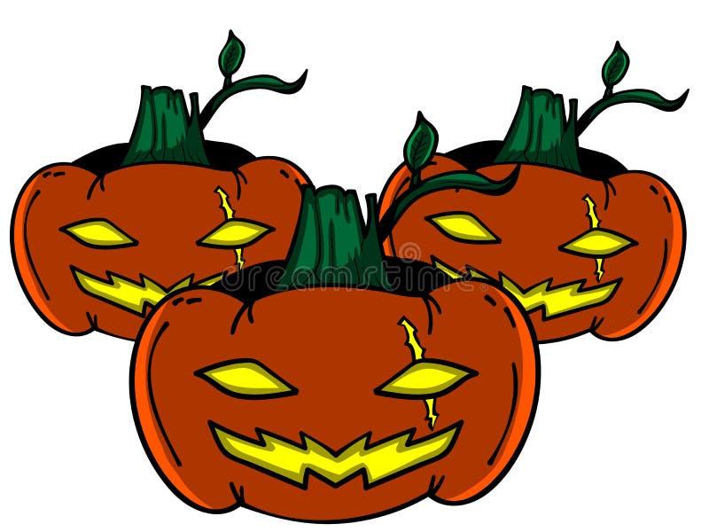 Hallowen klistermärke royaltyfri bild