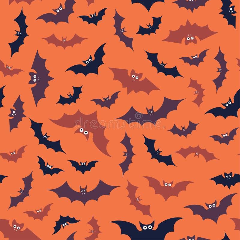 Hallowen-Muster von Fliegenschlägern Druckbereites auf Gewebe und anderem nahtlosem Design stock abbildung