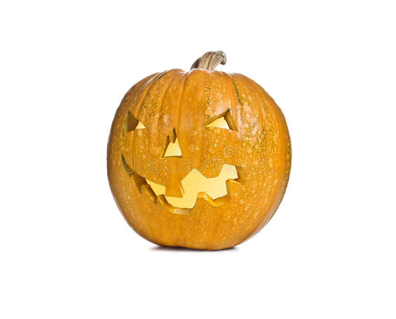 Hallowen Pumpkin. Isolated on white background stock photography