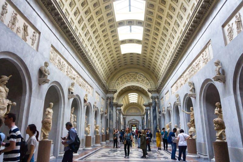Halls de musée à Ville du Vatican, Vatican, Rome, Italie photo libre de droits