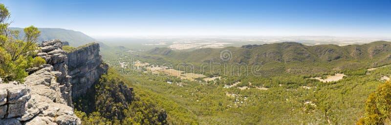 Halls Gap Grampians. Panorama of Halls Gap in the Grampians National Park, Victoria, Australia stock image
