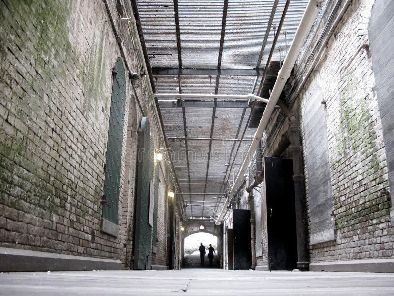 Halls intérieurs d'Alcatraz photographie stock