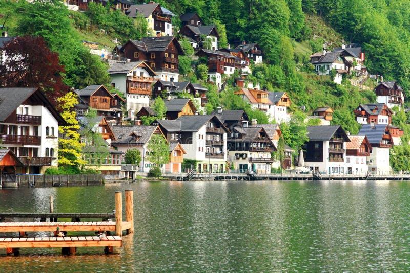 Hallstadt, Österreich stockbilder