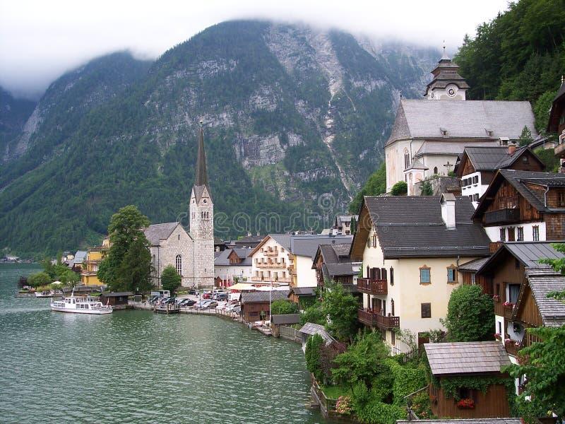 Hallstadt Austria foto de archivo libre de regalías