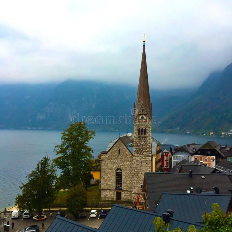 Hallstadt church royalty free stock images