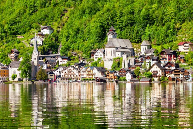 Hallstatt老镇,奥地利 免版税库存图片
