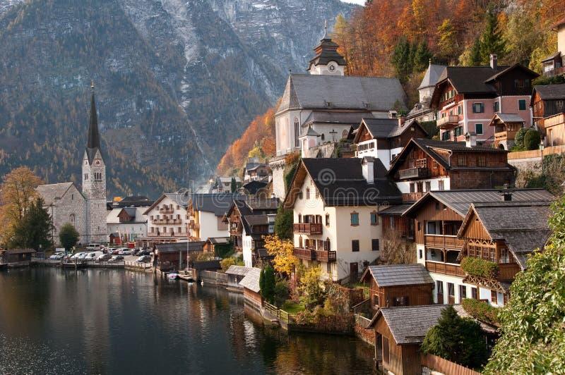 Hallstatt, Áustria fotografia de stock