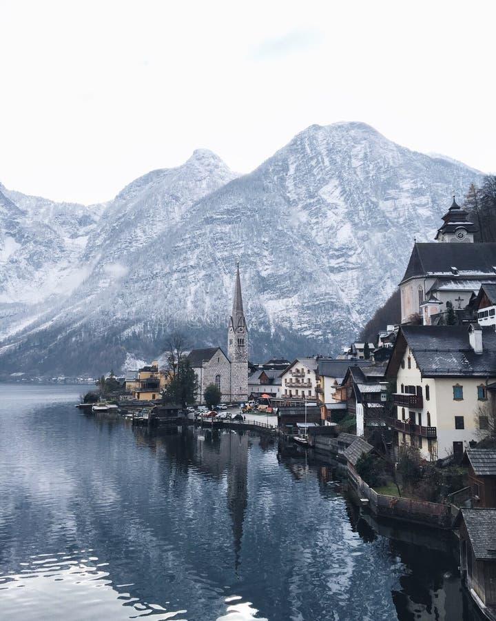 Hallstatt Áustria fotografia de stock royalty free