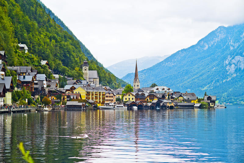 Hallstatt, Áustria fotos de stock