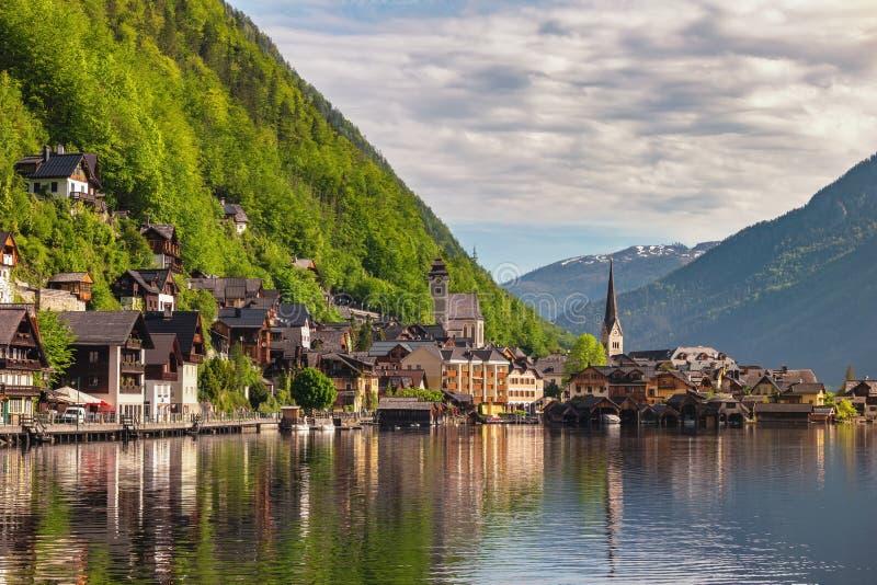 Hallstatt Áustria Nature horizontal imagem de stock royalty free