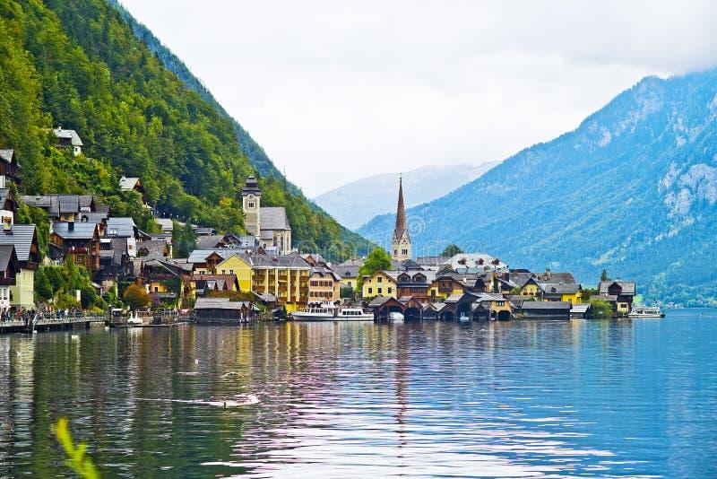Hallstatt, Österreich stockfotos