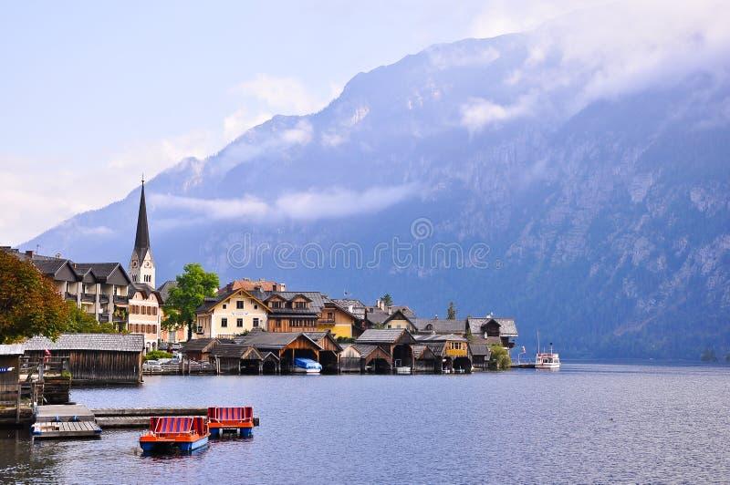 Download Hallstatt, Austria stock image. Image of church, reflection - 23347291